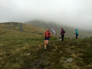 A happy Sarah Ridgeway bouncing through CP1 Photo courtesy True Mountain